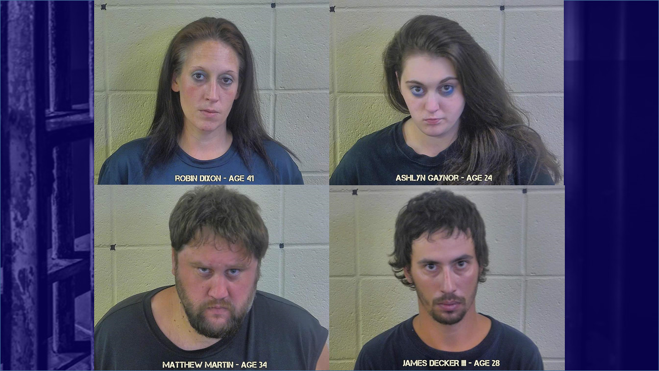 Dubois County Deputies Arrest Four on Meth and Other Drug-Related Charges