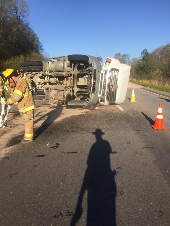 Dump Truck Flips, Causes Delays on I64