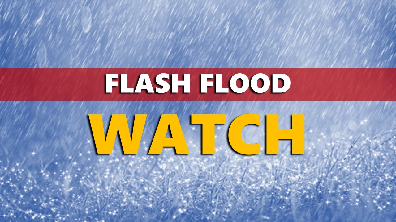 FLASH FLOOD WATCH Issued For Entire Listening Area, 1-3 Inches of Rain Possible Tuesday