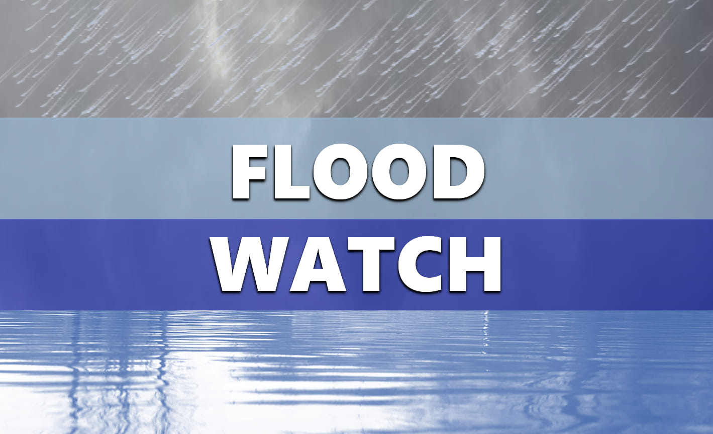 ALERT:  Flood Watch in Effect Through 1 p.m. Tuesday for the Entire Listening Area