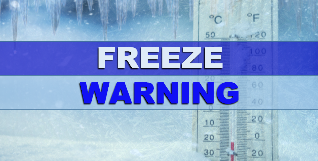 Freeze Warning Issued for Dubois and Surrounding Counties for Tonight; Temps Will Drop to the 20's