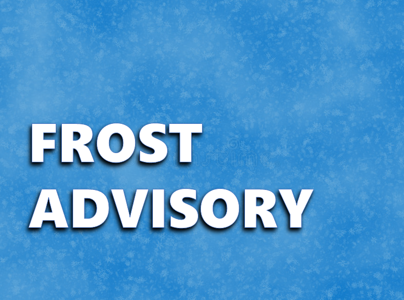 FROST ADVISORY in Effect Tonight