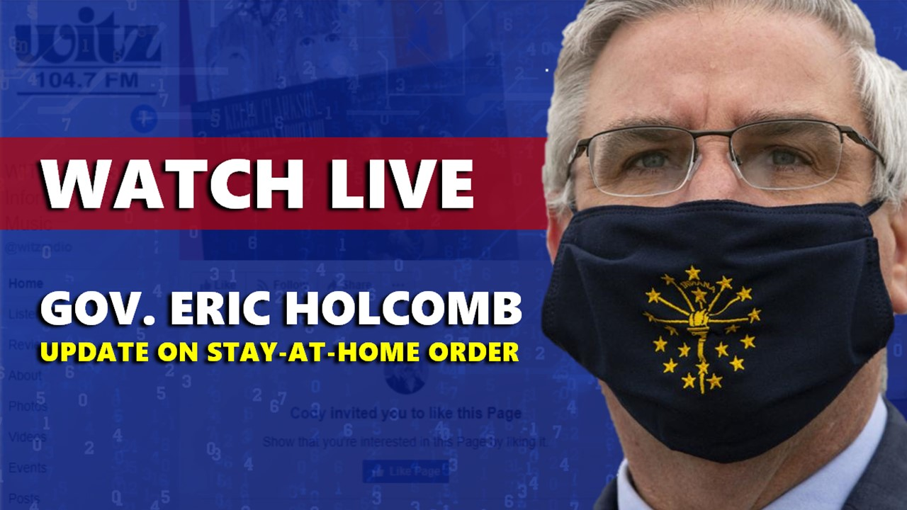 WATCH LIVE: Gov. Holcomb to Discuss COVID-19 Going into Next Week Friday at 2:30 p.m.