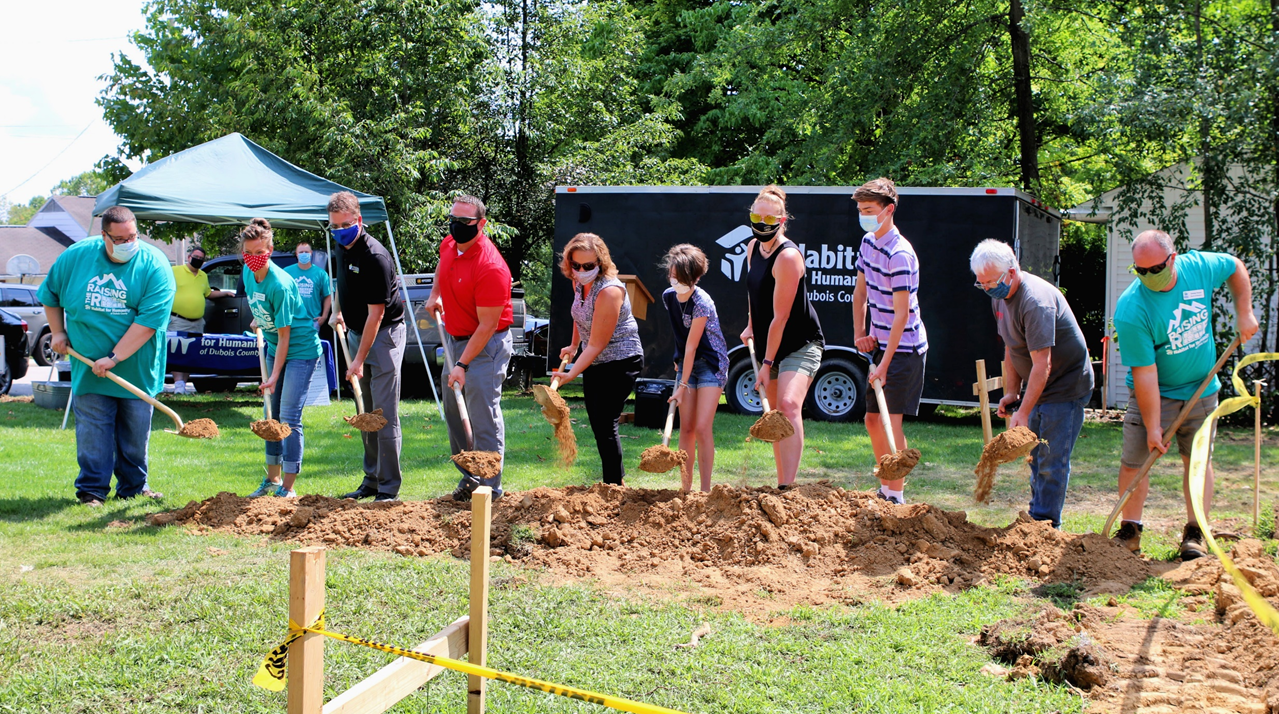 Habitat for Humanity of Dubois County Officially Begins New Habitat Home Build