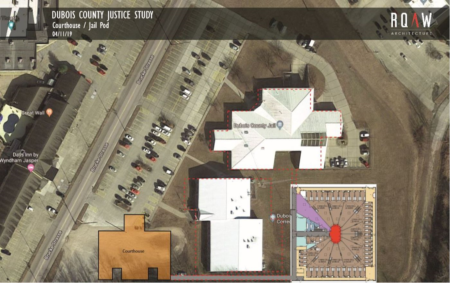 FIRST LOOK:  A Potential Design For a New Dubois County Jail Unveiled This Week