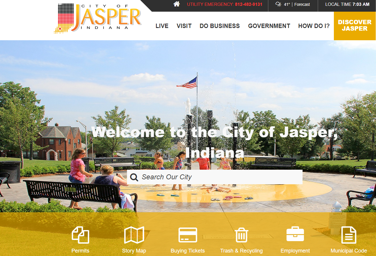 Jasper Officials Announce Upgrade to City's Website