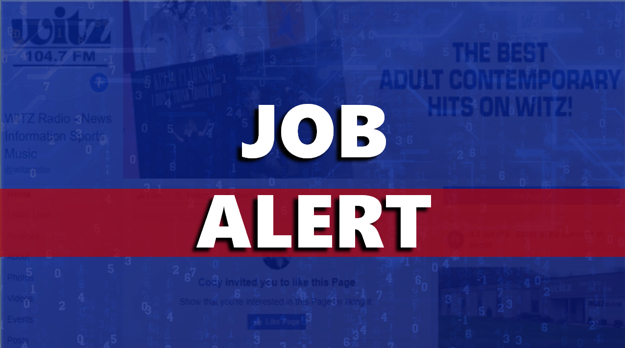 LOOKING FOR WORK?   WITZ / WQKZ is Hiring for Part-Time Board Operator / On-Air Talent