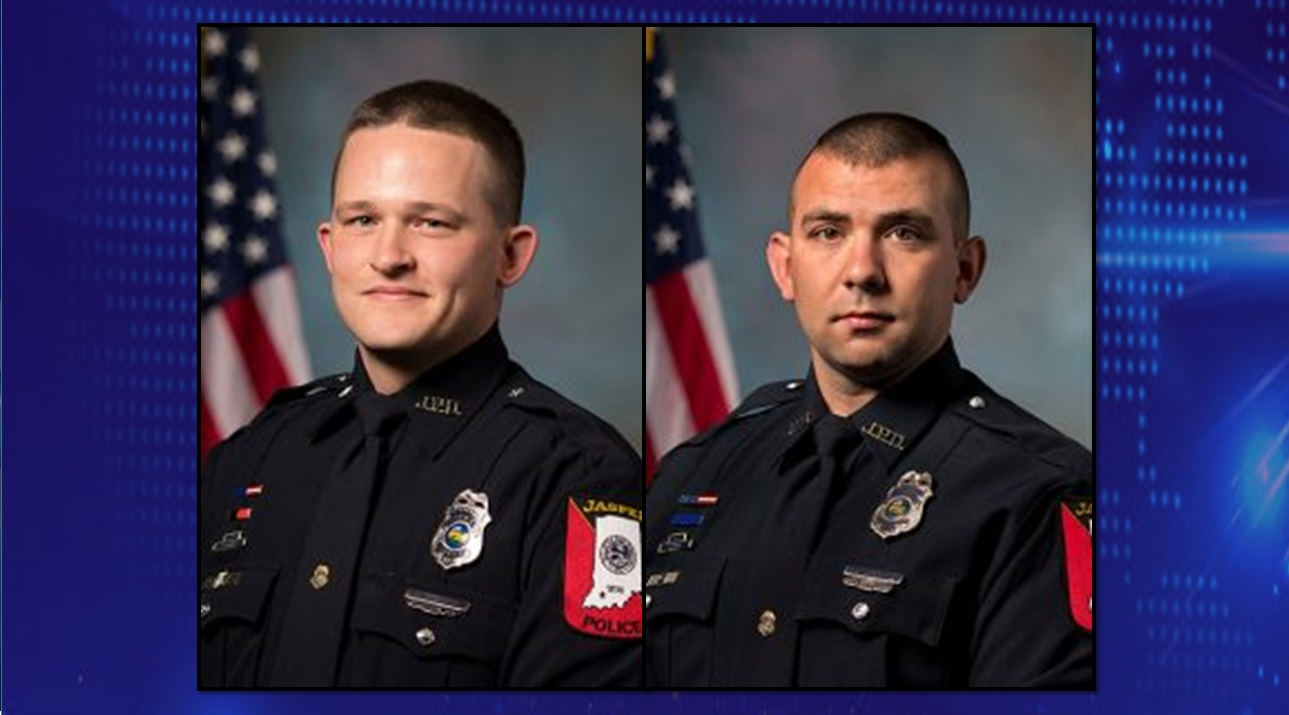 Two Jasper Officers Receive Prestigious Medal For Saving Man From Burning Car in 2018
