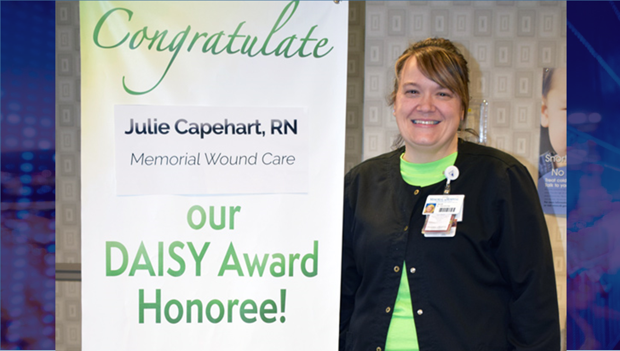 Memorial Hospital Nurse Receives DAISY Award to Clinical Skills and Compassionate Care