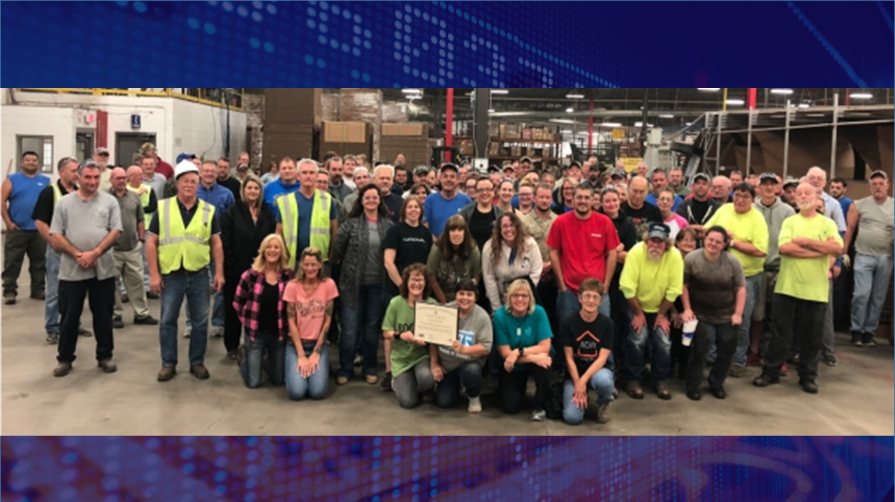 Kimball International Facility in Fordsville Earns SHARPS Re-Certification