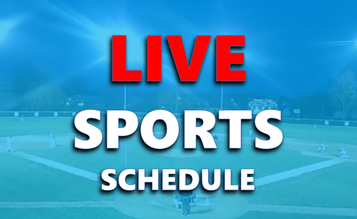 Live Sports Schedule:  May 29th - June 10th 2018