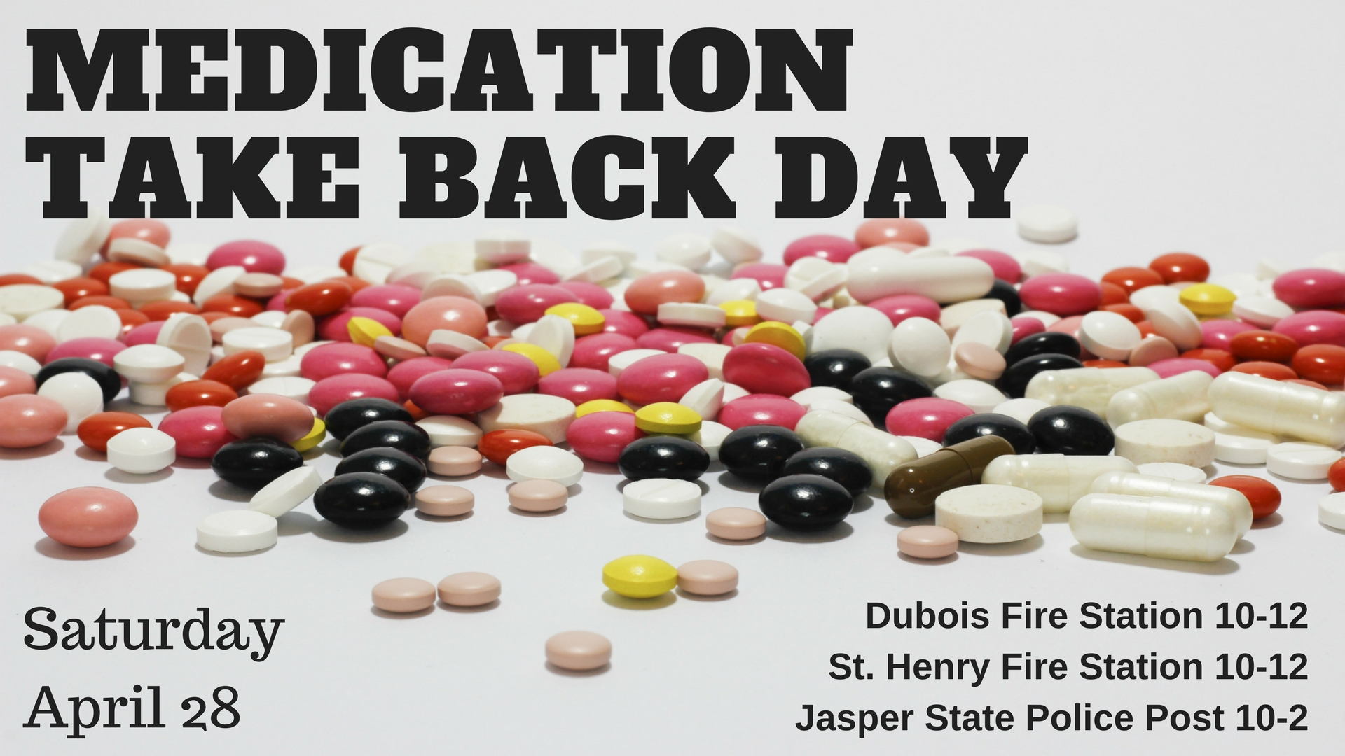 Medication Collection Day April 28th in Dubois County
