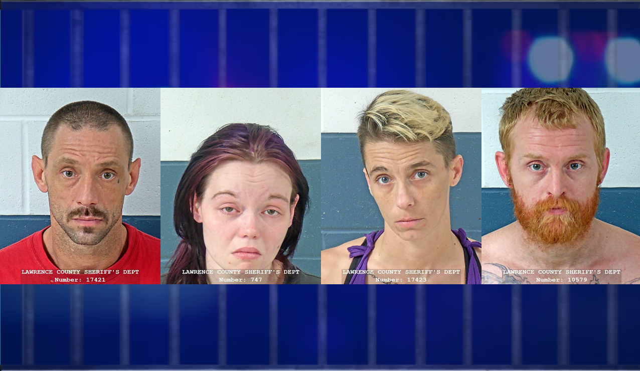Four Arrested on Meth and Other Charges With Young Children Living in the Home