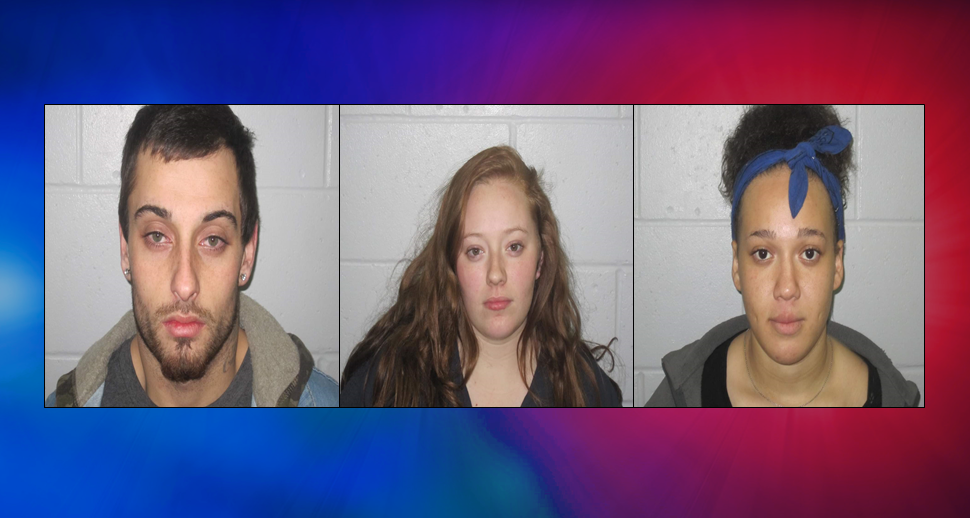 Three Arrested on Meth, Other Charges After Leaving Scene of Tuesday Crash