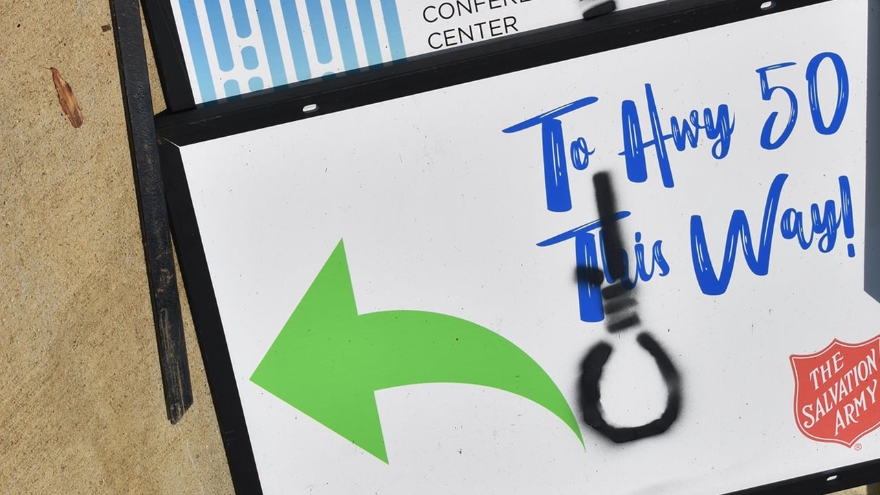 Nooses Spray Painted on Several Salvation Army Signs in the Area, Police Asking For Information