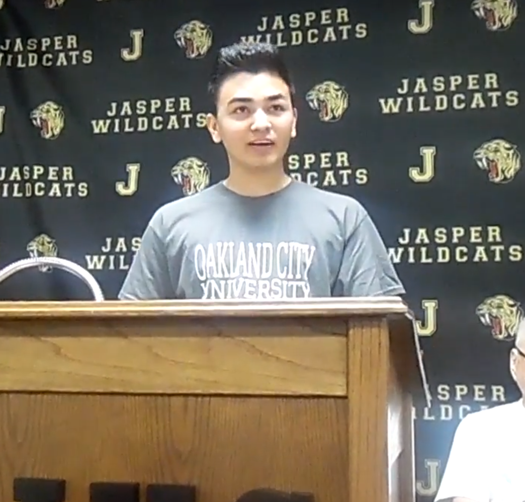 Jasper Senior Soccer standout Angelino Dubon announces he will play at Oakland City University