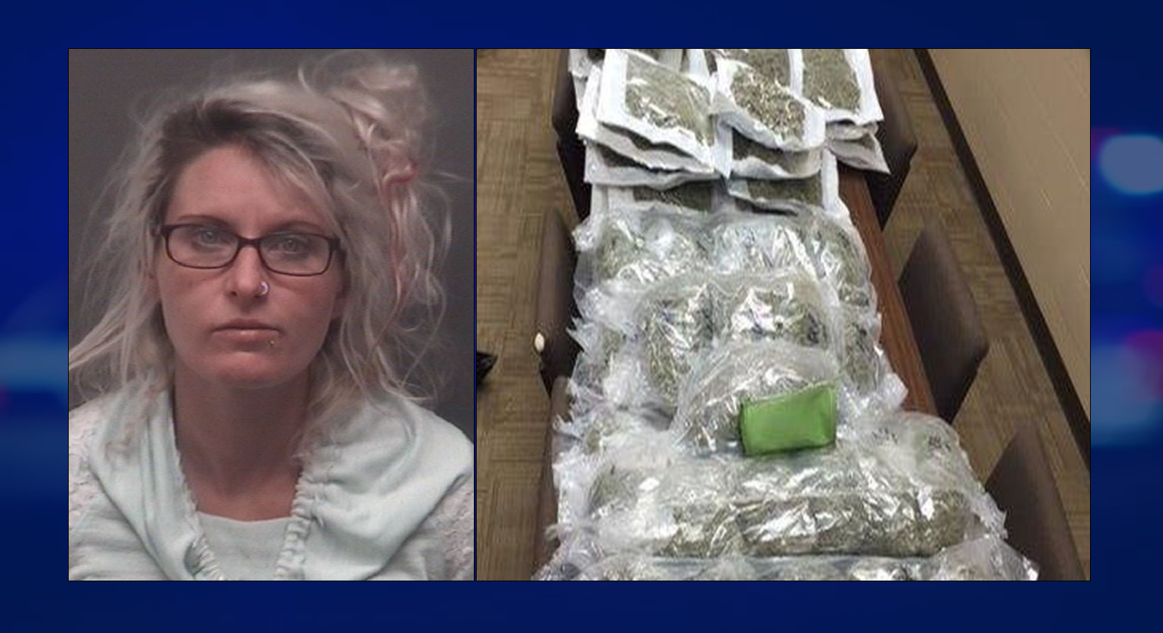 Over a Hundred Pounds of Pot Seized, Woman Faces Felony Charges