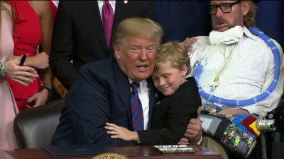 Pres. Trump Signs Sen. Donnelly's