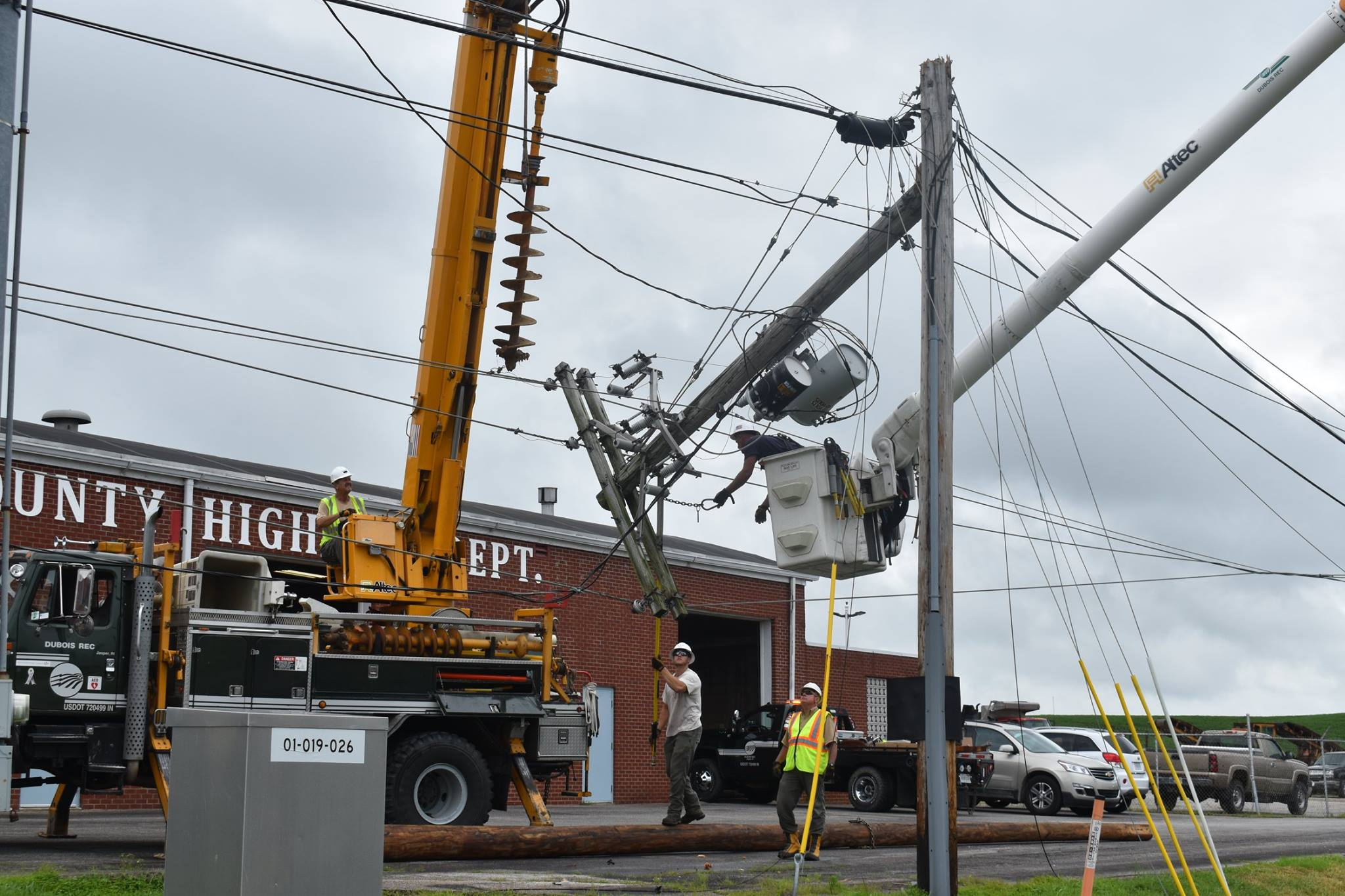 Power Restored After Truck Brings Down Lines