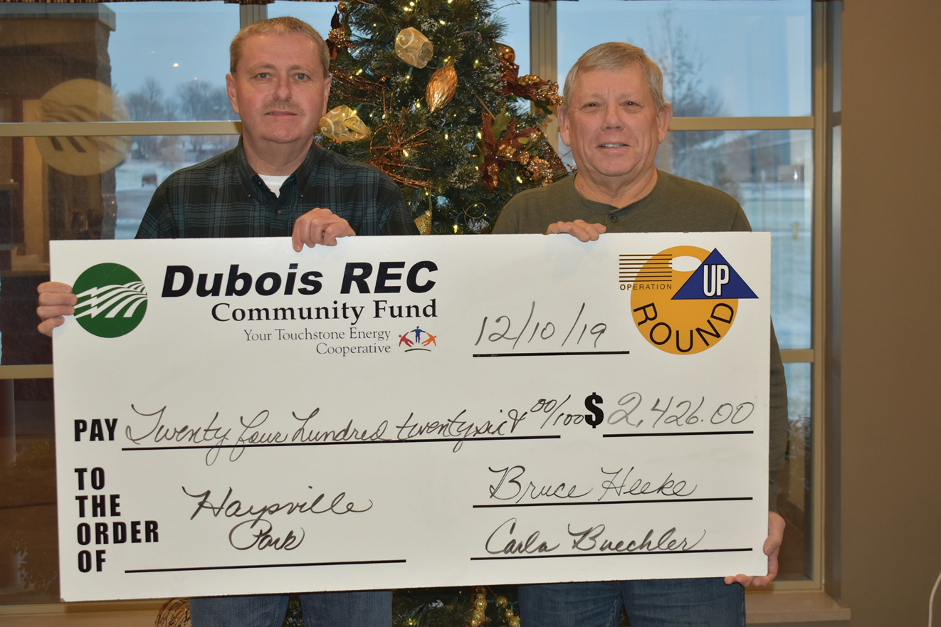Dubois REC Operation Round Up Grants Total Over $31,000 in 2019