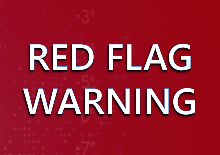 Red Flag Warning This Afternoon Through Early Evening