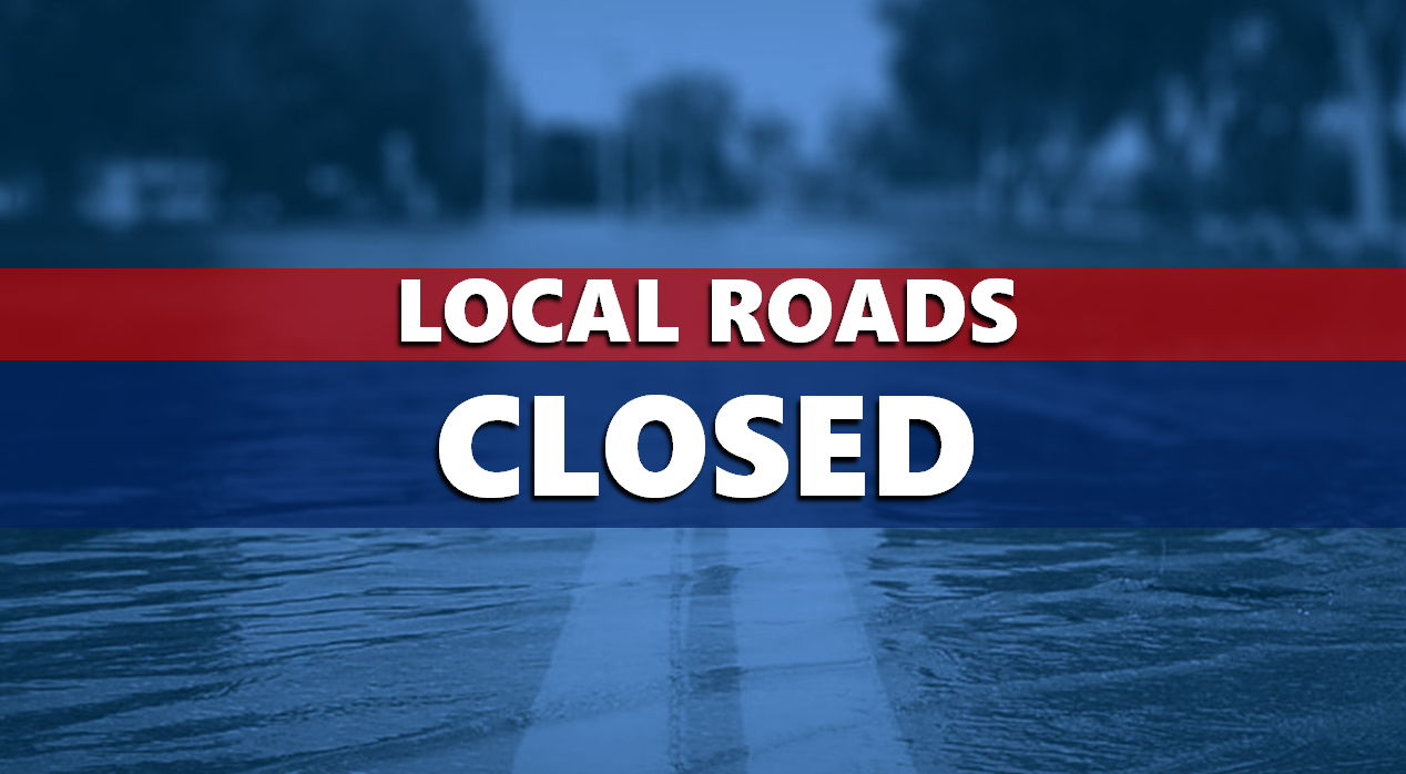 TUESDAY UPDATE:  17 Roads Remain Closed Due to High Water