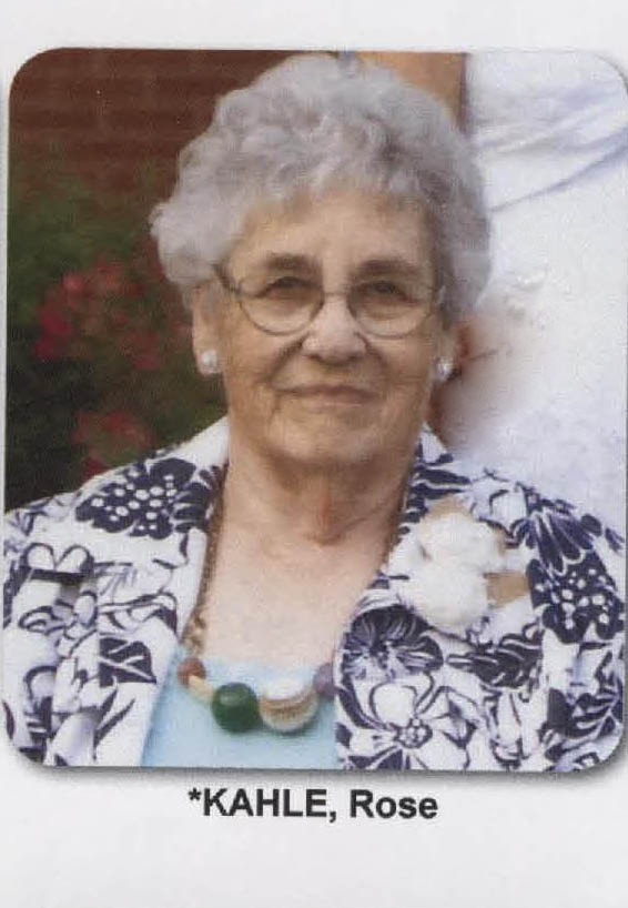 Rose Louise (Sakel) Kahle, age 91, of Huntingburg