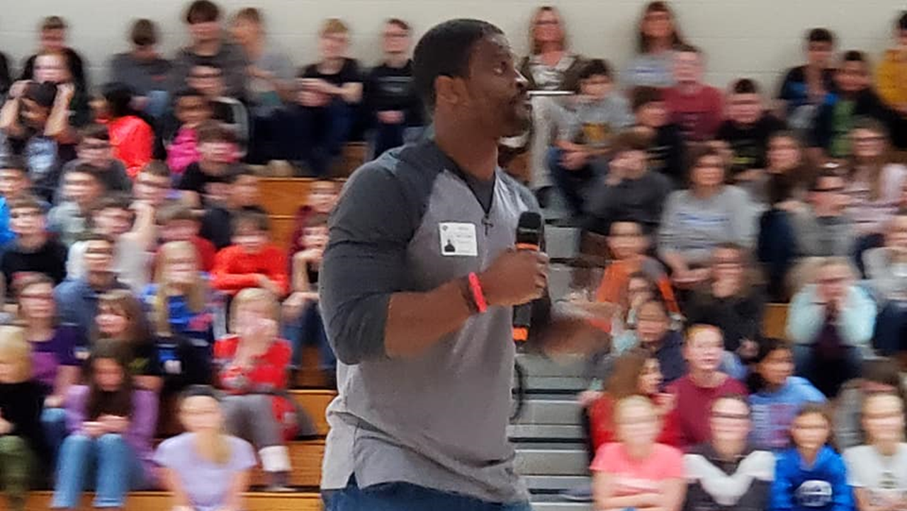 Motivational Speaker Encourages Dubois County Students to Overcome Adversity, Have Self-Respect