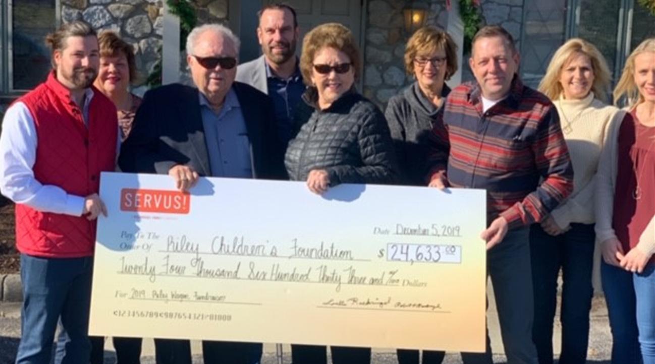 Jasper-Based SERVUS! Donates Over $24,000 to Riley Children's Hospital