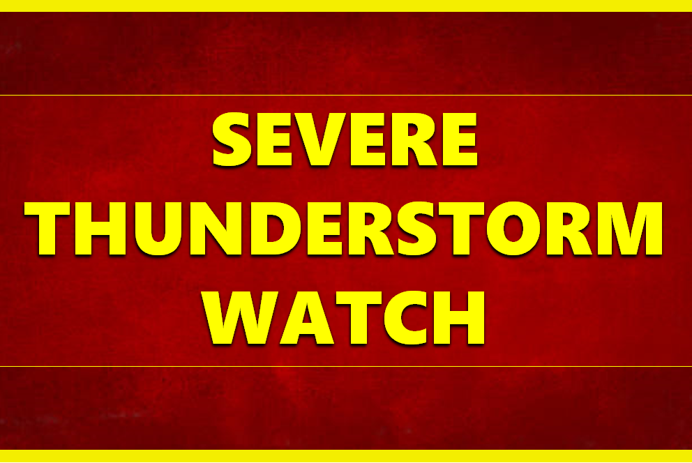 SEVERE THUNDERSTORM WATCH until 1 a.m. EDT