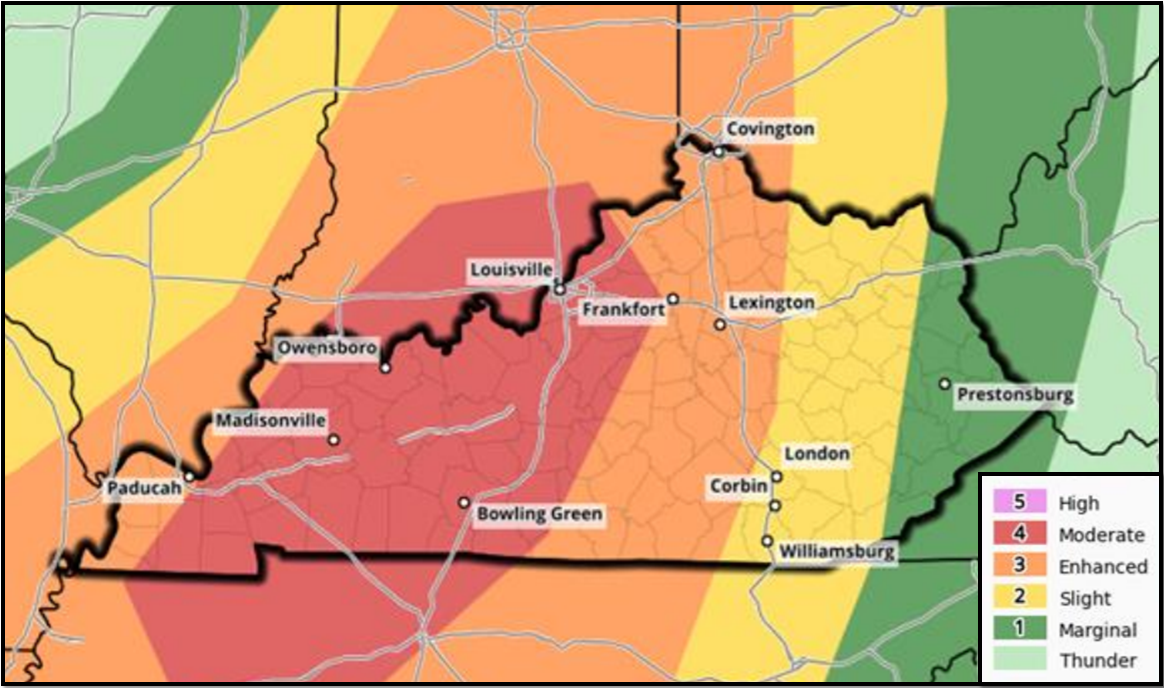 Severe Weather, Hail, Tornadoes Possible Friday Afternoon