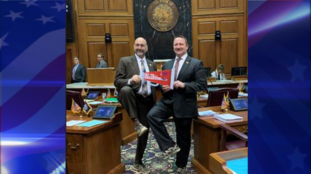 Local Lawmakers Wear Sneakers With Suits to Kick Off National Cancer Prevention Month in February