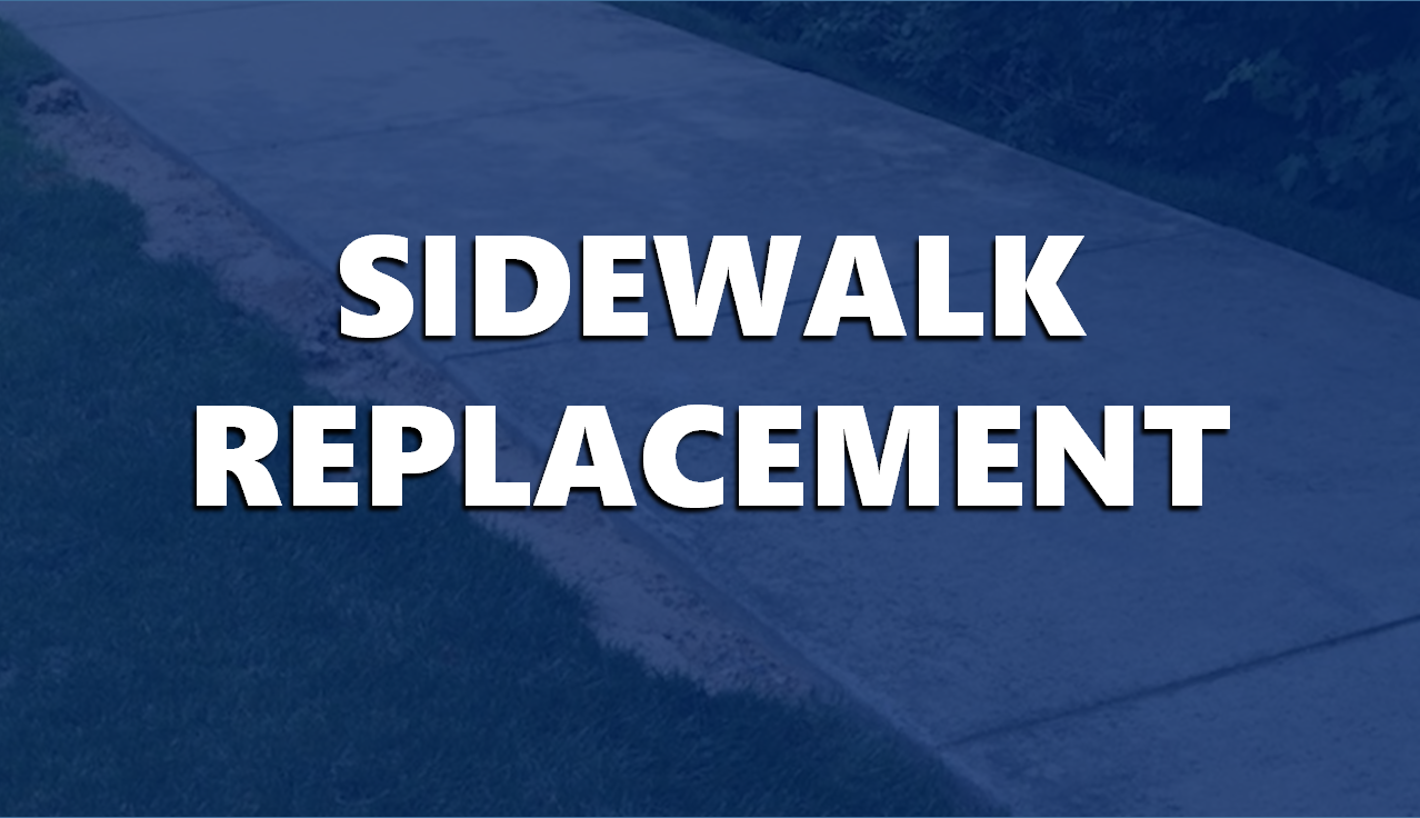 Sidewalk Replacement Project Set to Begin Monday in Jasper Monday