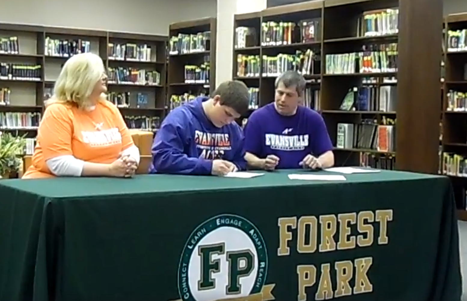 Forest Park senior standout signing to throw fo0r the University of Evansville Track and Field team