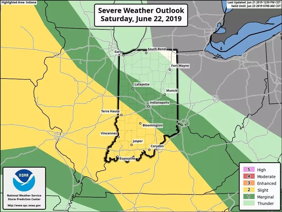 Another Slight Risk of Severe Weather Saturday Following Strong Storms During the Week