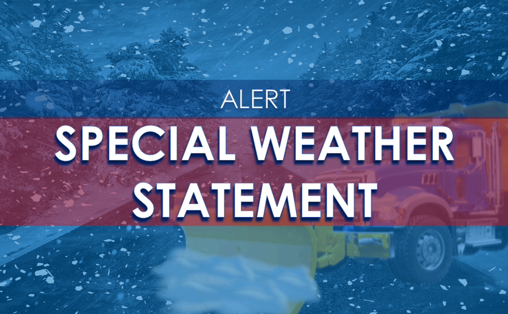 NWS Issues SPECIAL WEATHER STATEMENT for Light Snow / Freezing Drizzle Monday Night