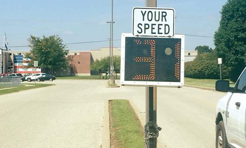 Tell City Gets Temporary Speed Signs to Remind Drivers to Slow Down
