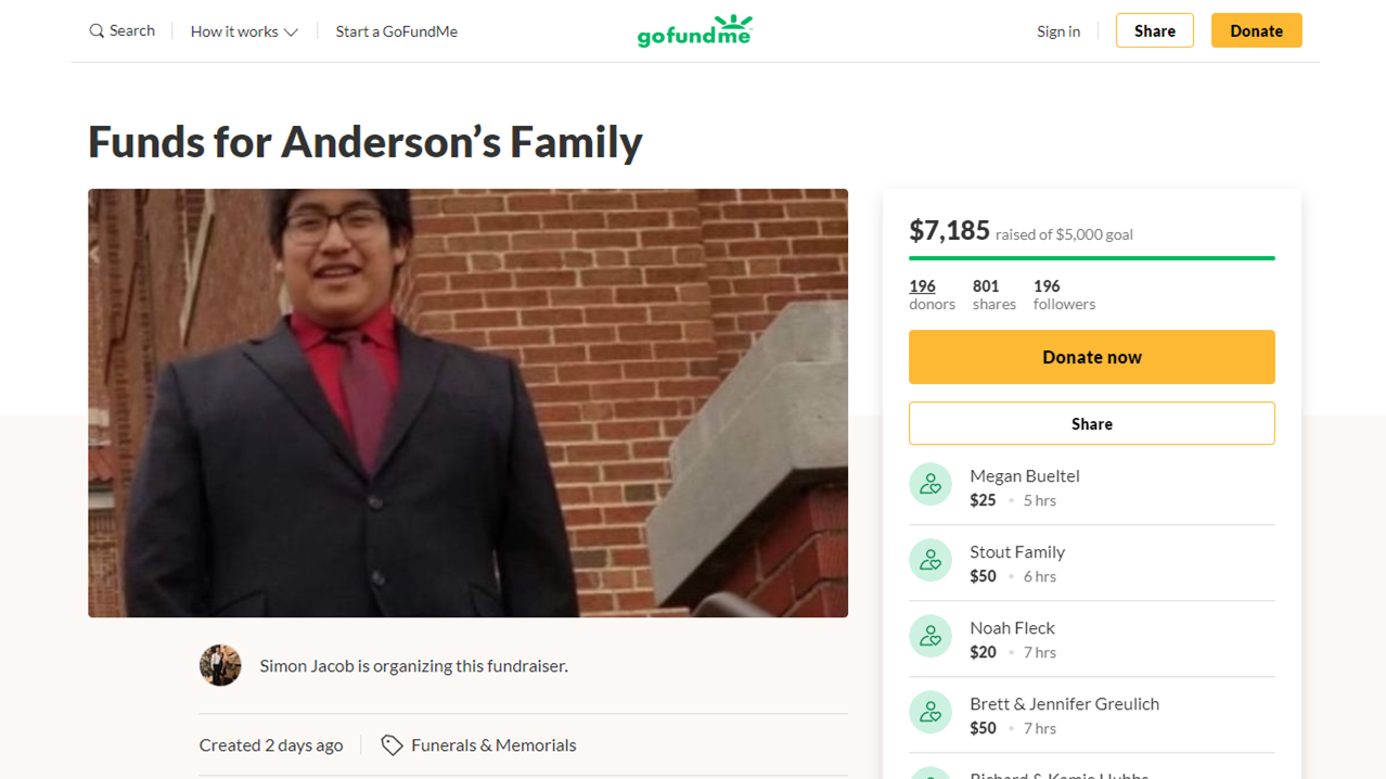 Go Fund Me Page is Collecting Donations For Family of Teen Who Died at Forest Park High School This Week