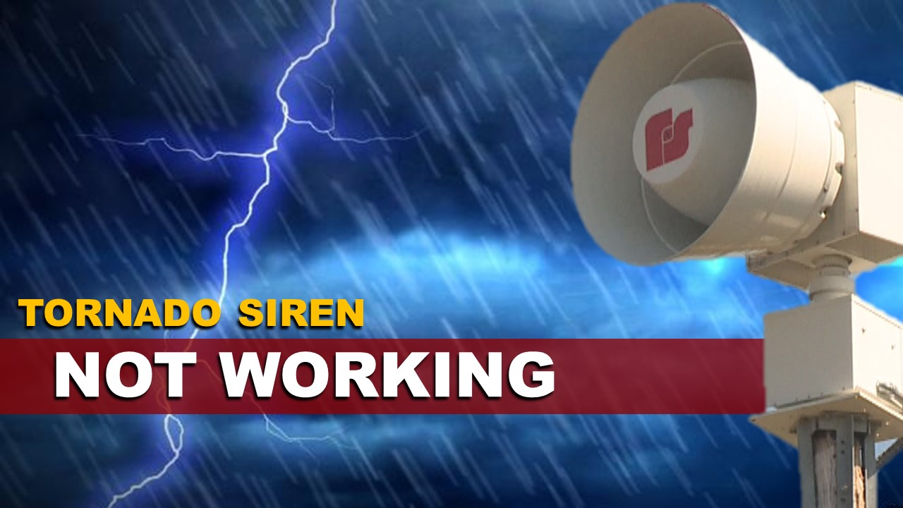 OFFICIALS:  Holland Tornado Siren is Not Working, Check Weather Radios