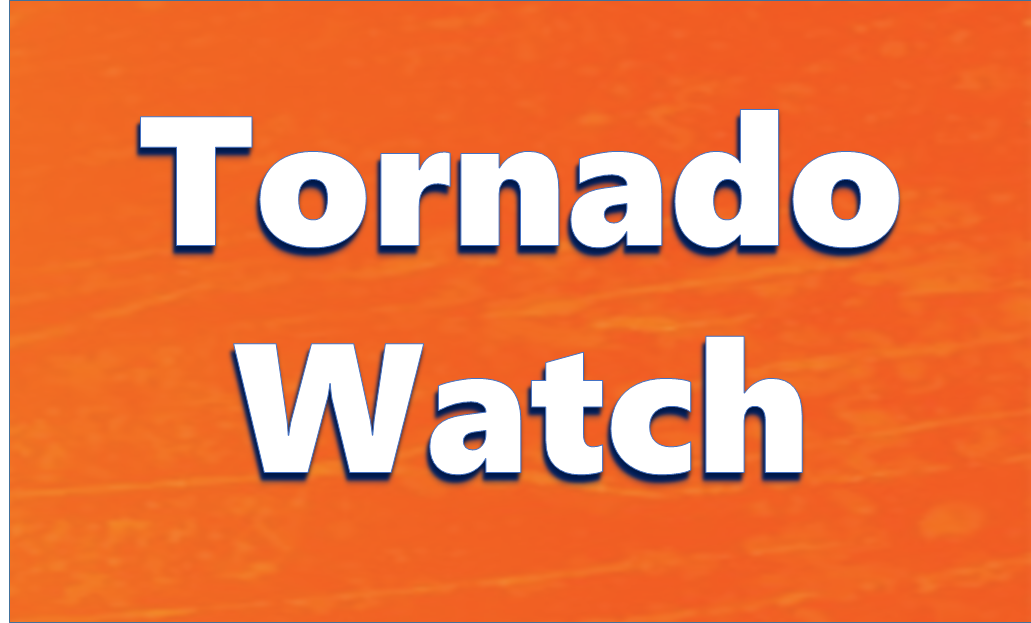 TORNADO WATCH in effect through 8 PM