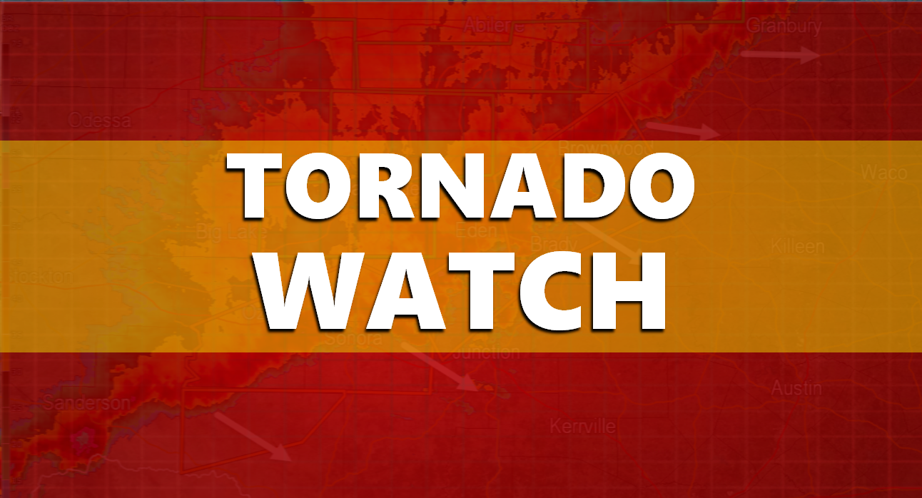Tornado Watch for Entire Listening Area Until 5 P.M.