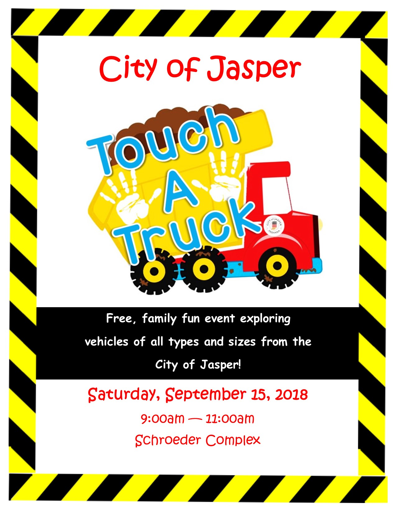 Threat of Rain Forces Organizers to Postpone Jasper Touch-a-Truck Event Saturday