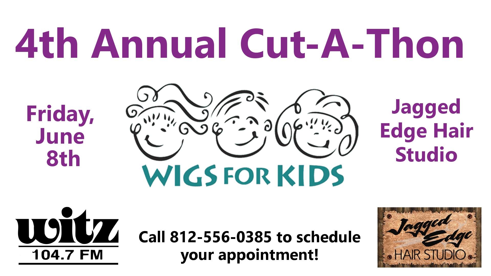 WITZ & Jagged Edge to Host 4th Annual Wigs for Kids Cut-A-Thon