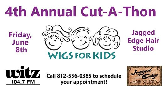 WITZ, Jagged Edge Partner for Wigs-for-Kids Cut-a-Thon today