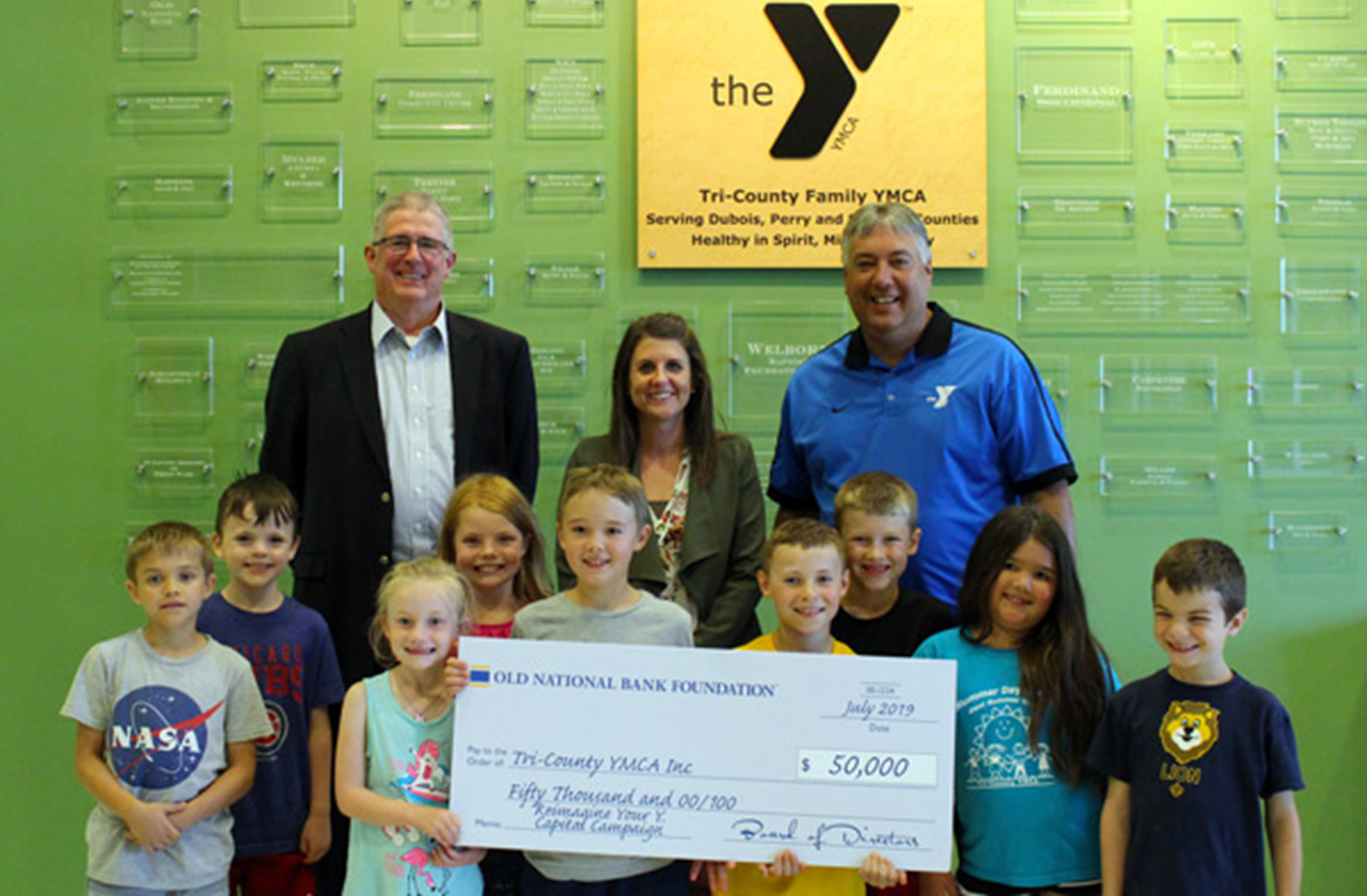 Old National Bank Grants Tri-County YMCA $50,000