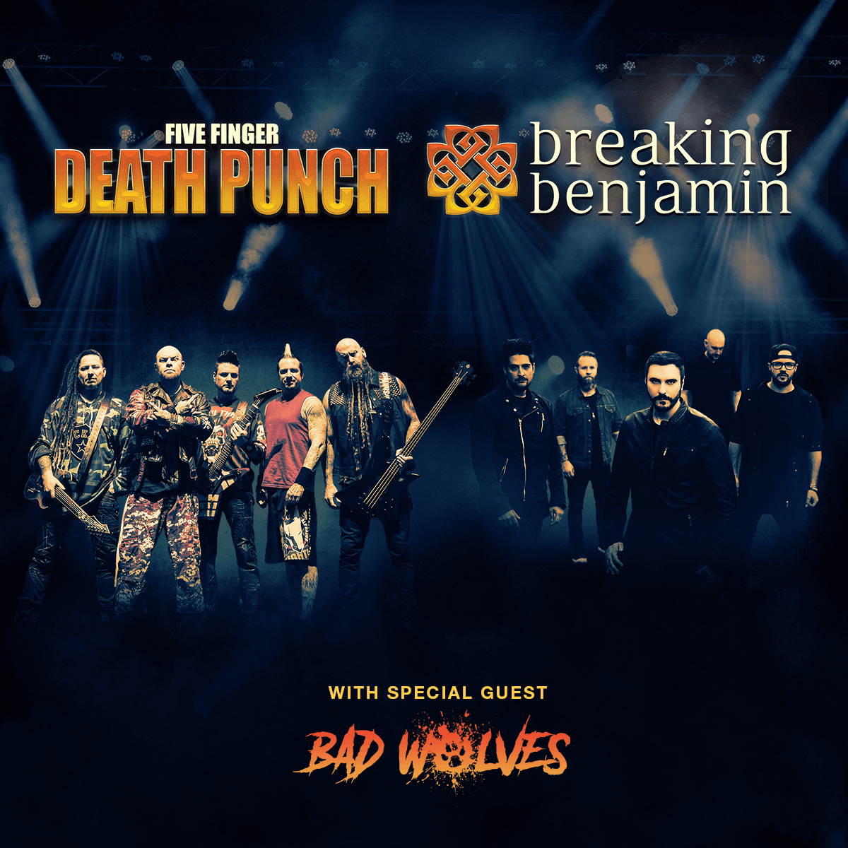 breaking benjamin and five finger death punch with bad wolves. Black Bedroom Furniture Sets. Home Design Ideas