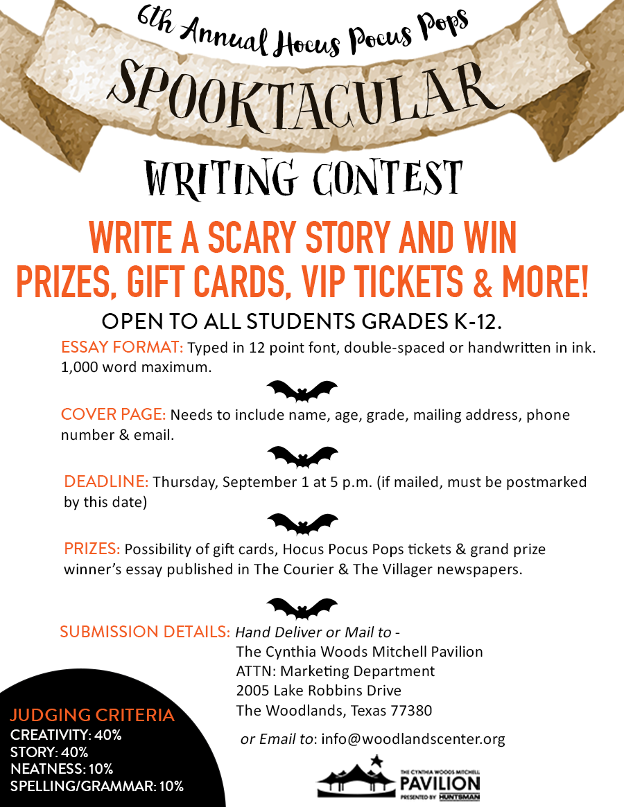 spooktacular writing contest