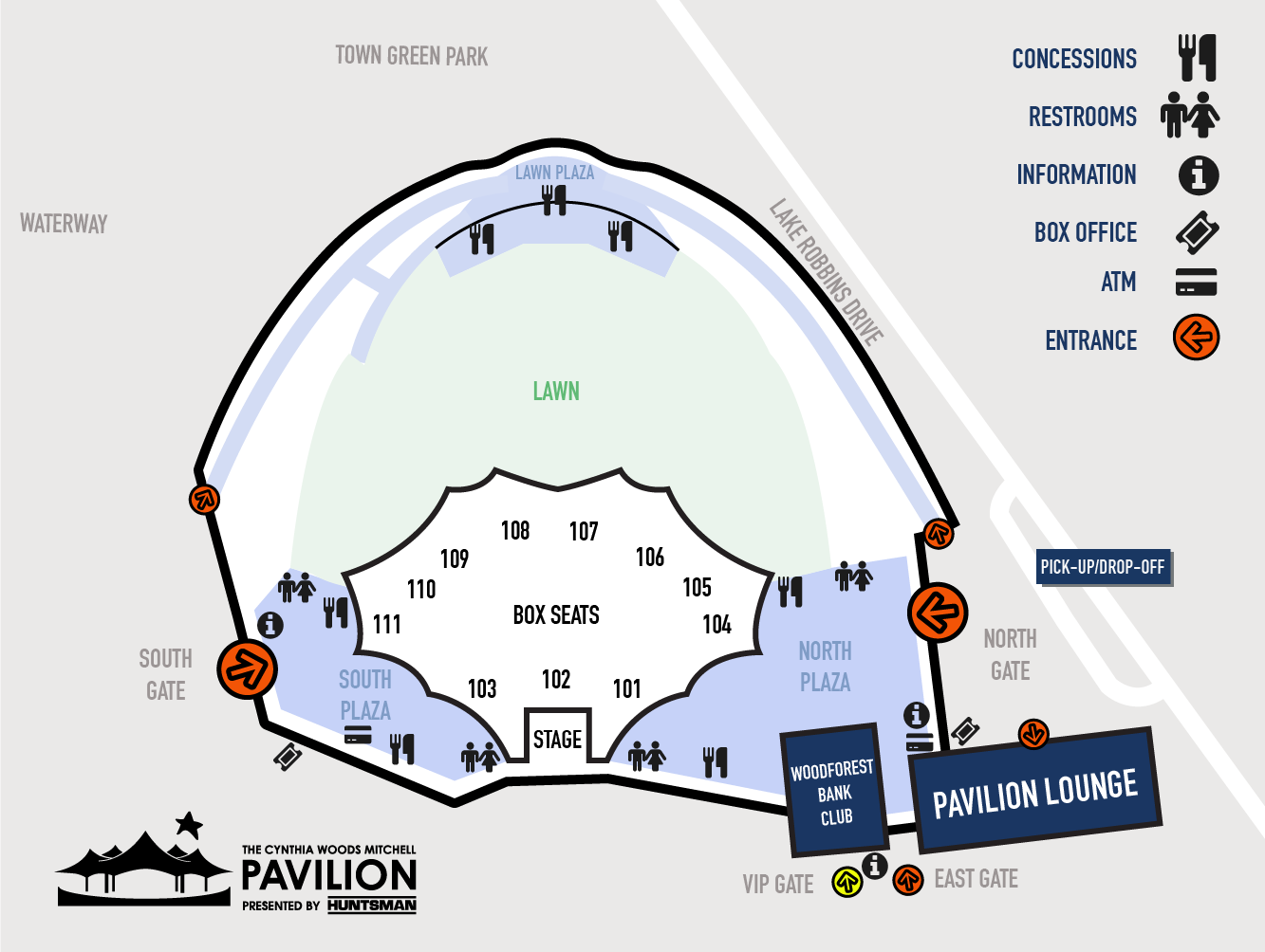 Venue maps the pavilion