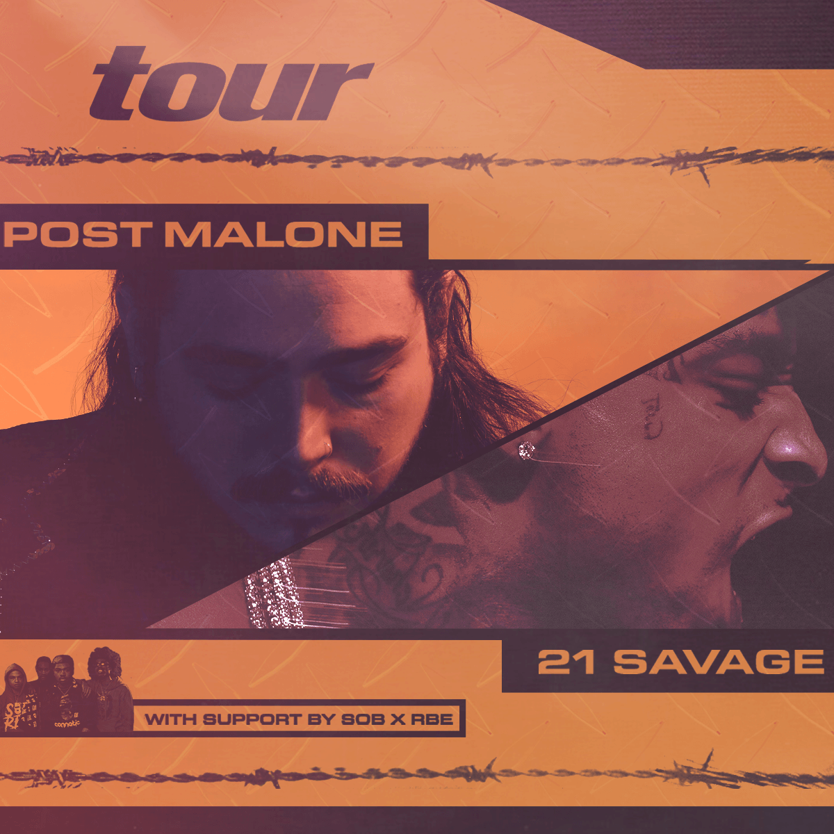Post Malone Concert: POST MALONE WITH SOB X RBE, TRAE THA TRUTH AND PARIS