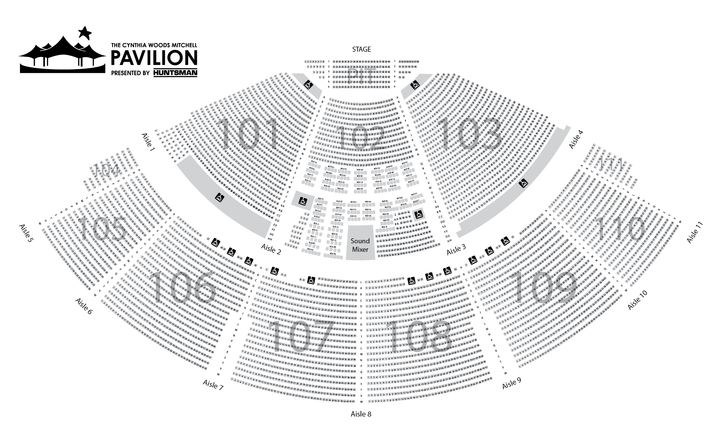 Pavilion Seating Chart